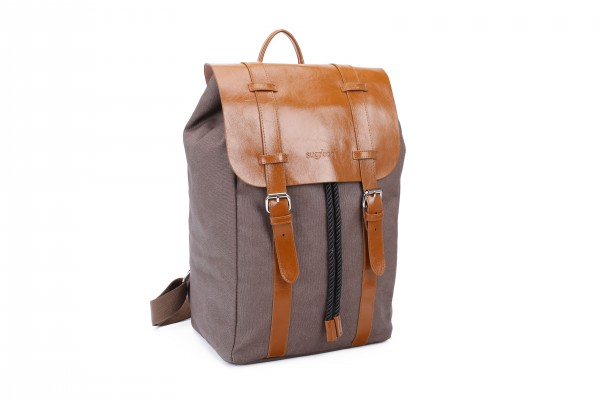 sugrbag Popy backpack brown / brown leather