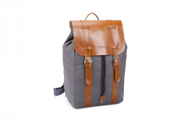 sugrbag Popy backpack grey / brown