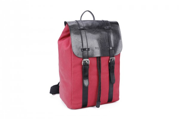 sugrbag Popy backpack red / black