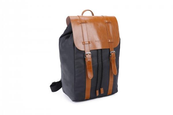 sugrbag Popy backpack black / brown leather