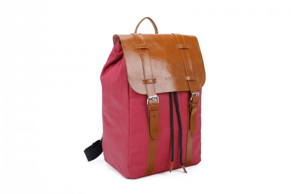 sugrbag Popy backpack red / brown