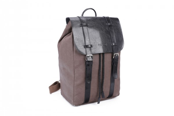 sugrbag Popy backpack brown / black Leather